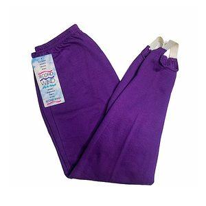 NWT! Vntg 90s Stirrup Sweatpants Purple Elastic M